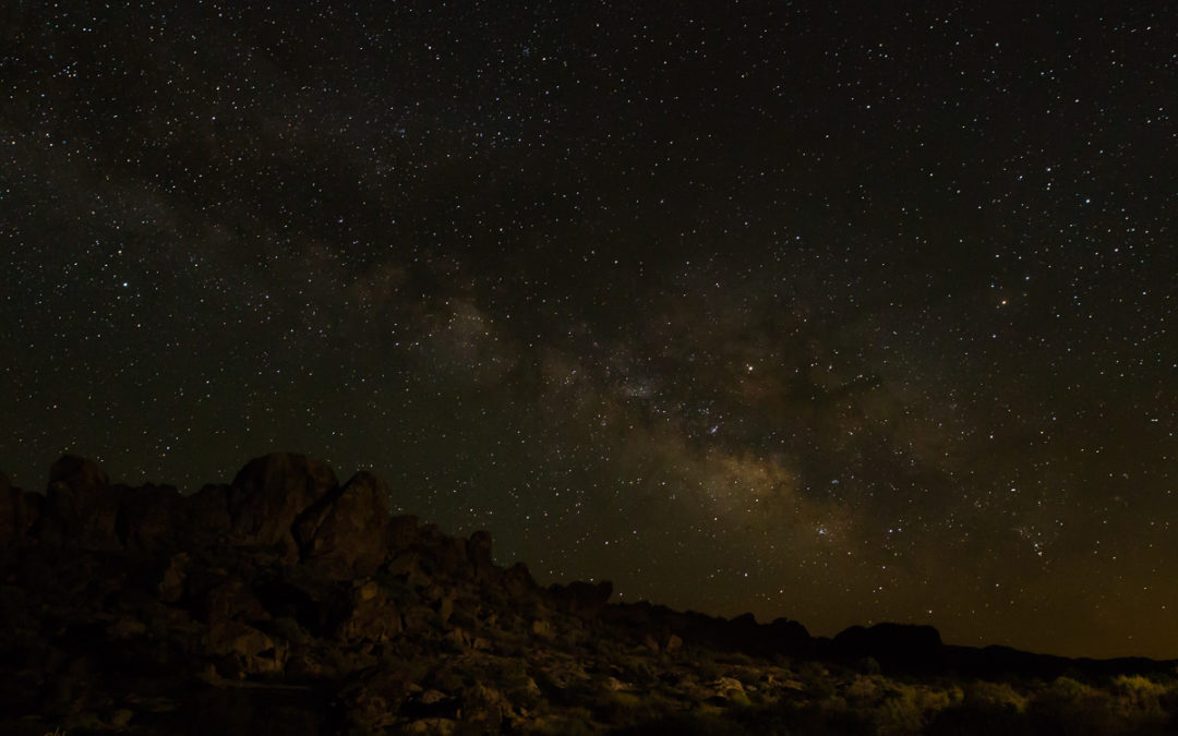 Night landscape photography in Dry Lake Valley, NV